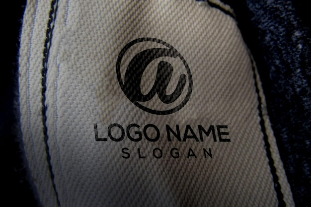 Logotipo da maquete 3d de marca de roupas