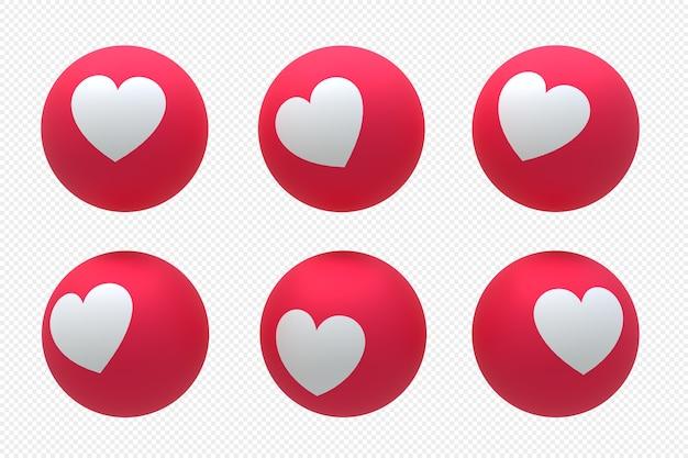 Logotipo da mídia social do facebook definido em renderização 3d