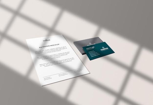 Logotipo de cartão de visita de luxo e maquete de papel timbrado premium psd