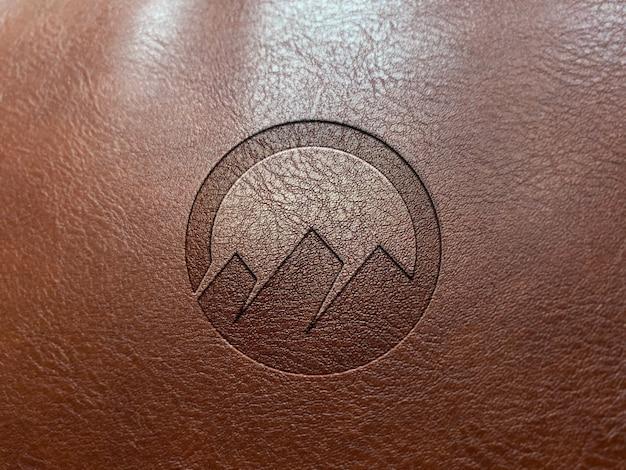 Logotipo de gravação de couro