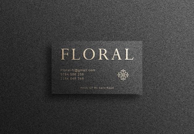 Logotipo de luxo em maquete de cartão de visita