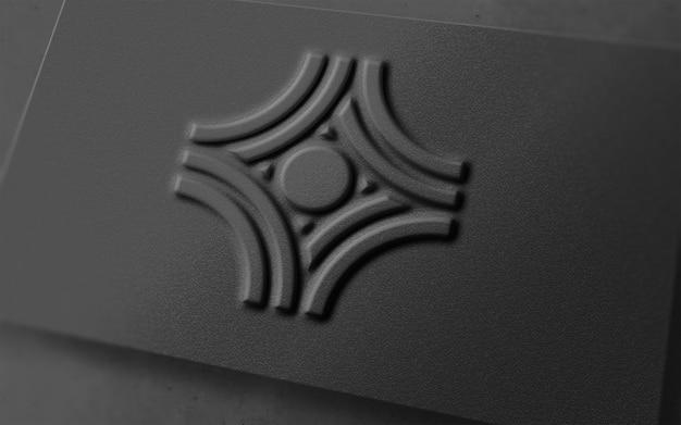 Logotipo de luxo moderno 3d em um cartão