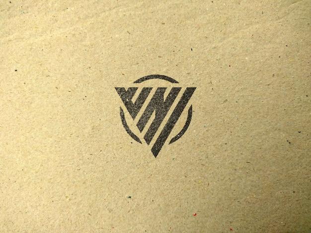 Logotipo de maquete em tecido texturizado