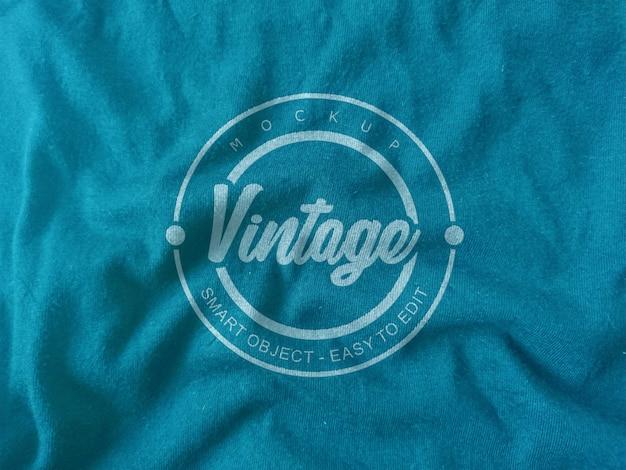 Logotipo de tecido de maquete
