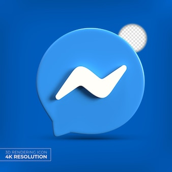 Logotipo do aplicativo messenger 3d isolado