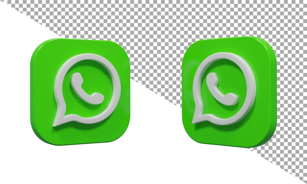 Logotipo do ícone de renderização 3d o que é isométrico do aplicativo
