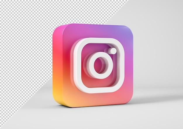 Logotipo do instagram em renderização 3d