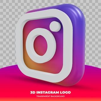 Logotipo do instagram isolado em renderização 3d