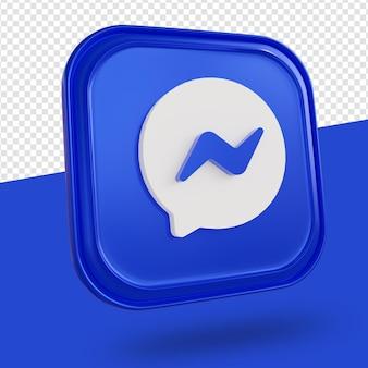 Logotipo do messenger isolado renderização em 3d