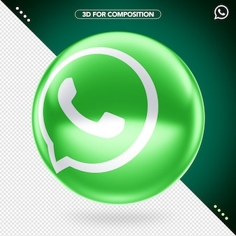 Logotipo do whatsapp em 3d