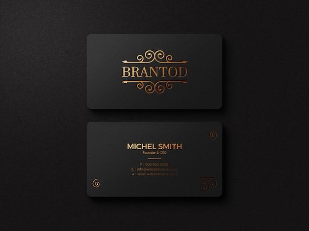 Logotipo elegante e maquete de cartão de visita