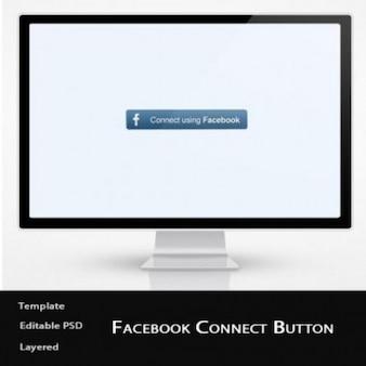 Logotipo facebook e botão de conexão