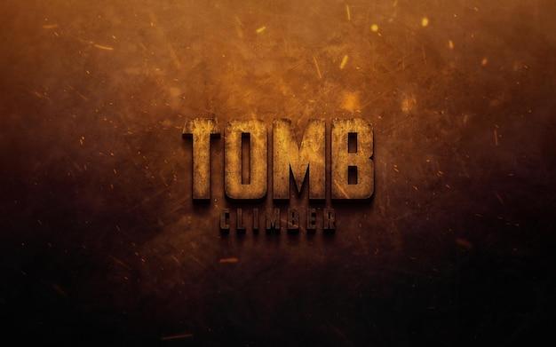 Logotipo inspirado em filme realista ou maquete de efeito de texto