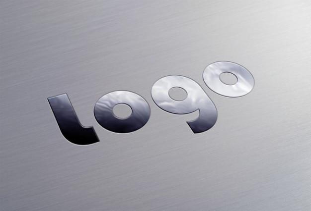Logotipo metálico elegante template psd