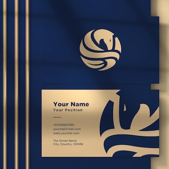 Logotipo na maquete do cartão de visita