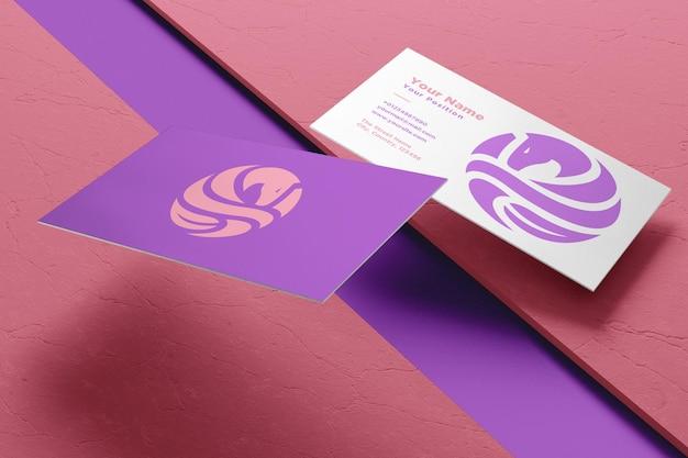 Logotipo realista e maquete de cartão de visita