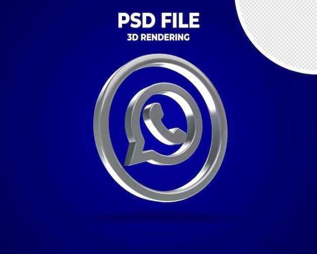 Logotipos de ícones de mídia ocial em 3d moderno