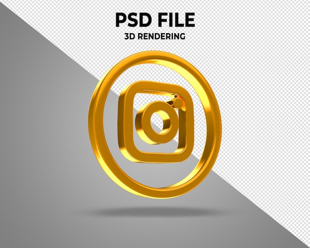 Logotipos de ícones de mídia social em 3d moderno