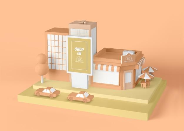 Loja de anúncio exterior no conceito