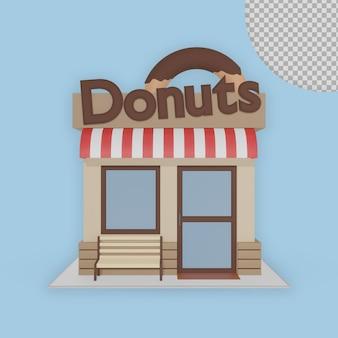 Loja de donuts 3d market house