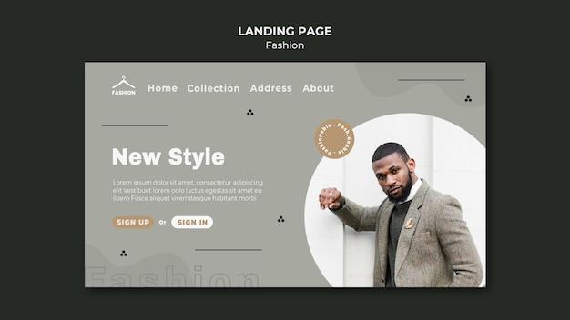 Loja de moda modelo de página de destino