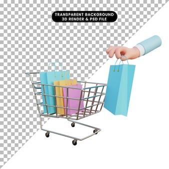 Loja online de renderização 3d
