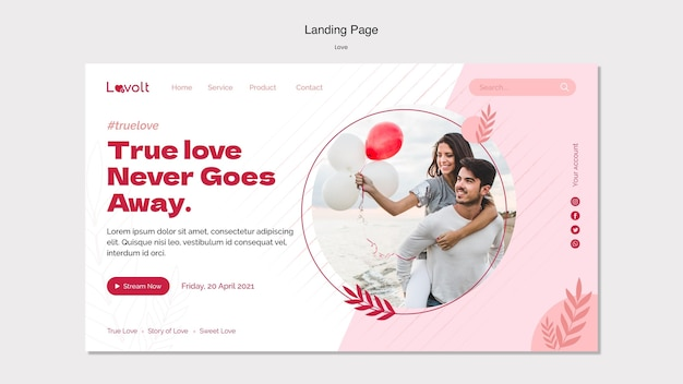 Love podcast landing page