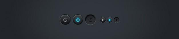 Luminosa e desligar botões