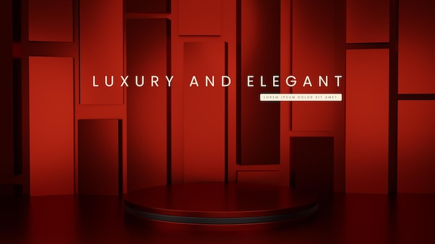 Luxury glossy geometric podium