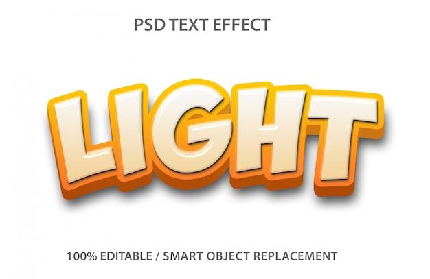 Luz de efeito de texto editável