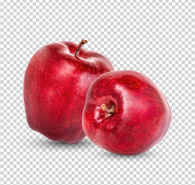 Maçã vermelha fresca isolada premium psd
