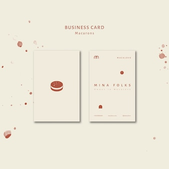 Macarons loja vertical cartão modelo conjunto