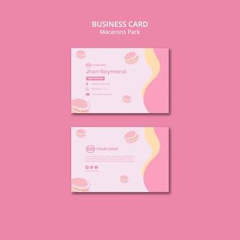 Macarons pack design de cartão de visita