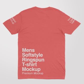 Macho macio macio estilo ringspun voltar camiseta masculina