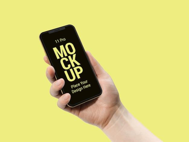 Mais recente smart phone pro mockup