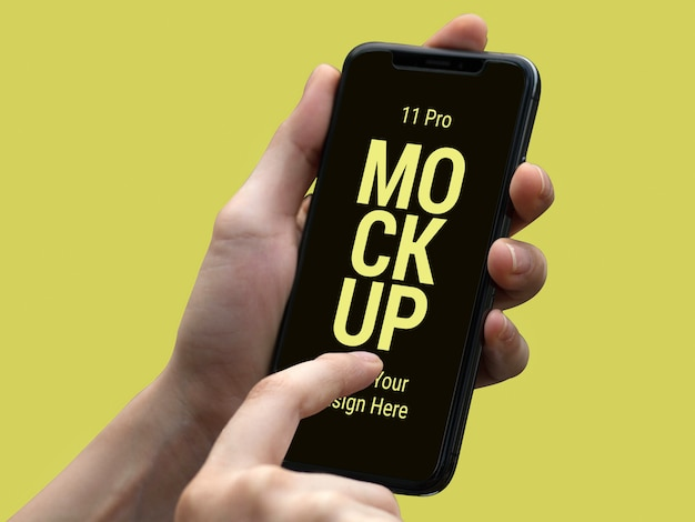 Mais recente smart phone pro mockup