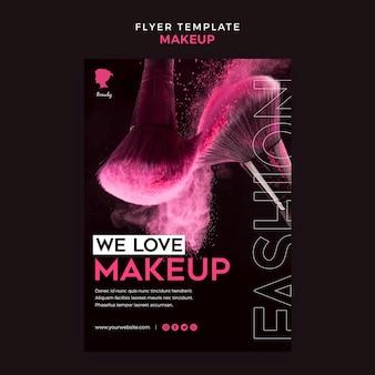 Make up flyer template