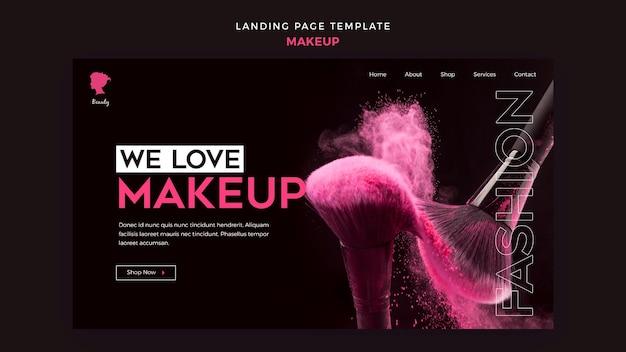 Make up landing page
