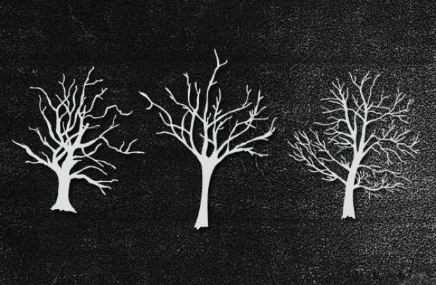 Mão árvores retiradas