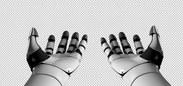 Mão de robô ciborgue