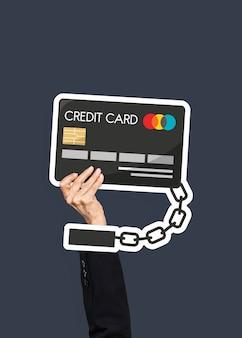 Mão segurando o clipart de cartão de crédito