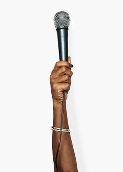 Mão, segurando, variação, de, objeto