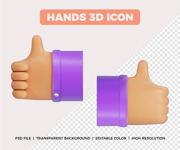 Mãos 3d como gesto