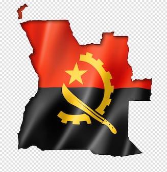 Mapa da bandeira angolana