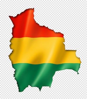 Mapa da bandeira boliviana