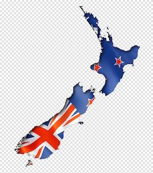 Mapa da bandeira da nova zelândia