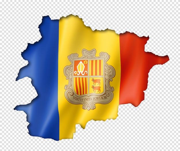 Mapa da bandeira de andorra