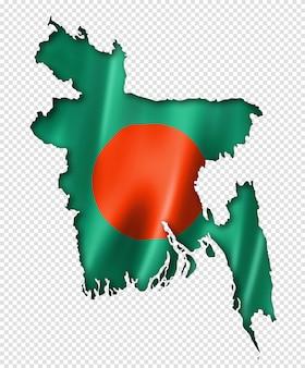 Mapa da bandeira de bangladesh