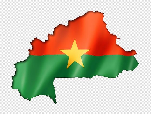 Mapa da bandeira de burkina faso