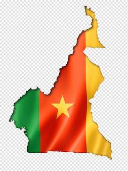 Mapa da bandeira de camarões